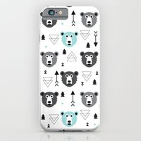 Geometric grizzly bear and arrows iPhone 6 Slim Case
