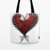 Heart - Fish Tote Bag