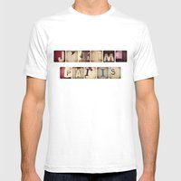 J'aime Paris Mens Fitted Tee White SMALL