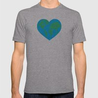 Earth Love Mens Fitted Tee Athletic Grey SMALL