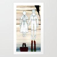 We Both Go Down Together Art Print