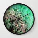 Fresh Dandelions Mosaic Wall Clock