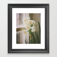 Close To The Window Framed Art Print