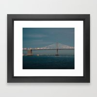 Bay Bridge (75th Anniver… Framed Art Print