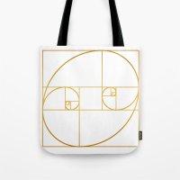 Golden Oval Tote Bag