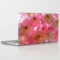 Pink Cherry Blossoms Laptop & iPad Skin