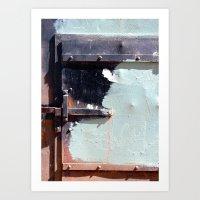 Latch and Blue Art Print