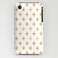 iPhone 3Gs & iPhone 3G Cases featuring Rose Gold Pattern by Jenna Davis Designs