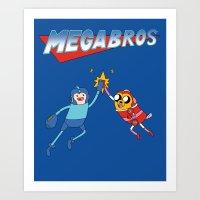 Mega Bros Art Print