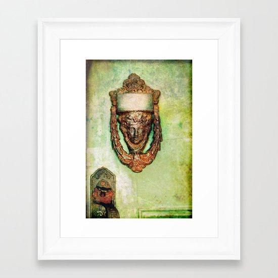 Brass Knocker Framed Art Print