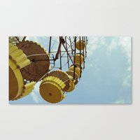 Chernobyl - колесо… Canvas Print