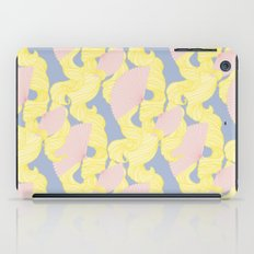 Spotted Fan & Trailing Hair // Pink & Yellow Pastels iPad Case