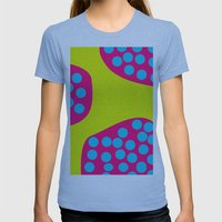 Green Purple Dots Womens Fitted Tee Athletic Blue SMALL