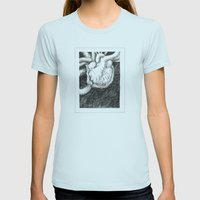 My Thump Thump Womens Fitted Tee Light Blue SMALL