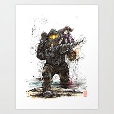 Bioshock Subject Delta and Little Sister Art Print