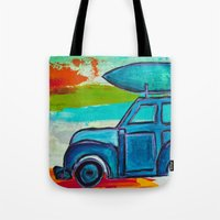 Let's Go Surfing Tote Bag