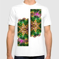 Kaleido: Green, Purple, … Mens Fitted Tee White SMALL