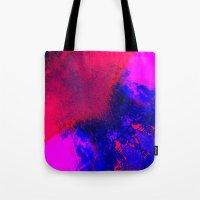 02-14-36 (Red Blue Glitc… Tote Bag