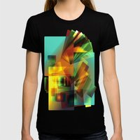 Alluvial Surf Womens Fitted Tee Black SMALL