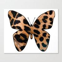 LEOPARD BUTTERFLY Canvas Print