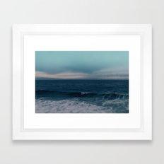 Blue California Ocean Framed Art Print