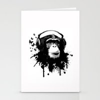 Monkey Business - White Stationery Cards