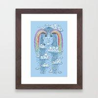 Rainface Framed Art Print