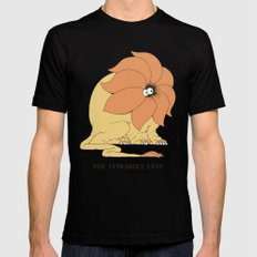 The Cowardly Lion SMALL Black Mens Fitted Tee