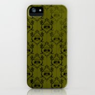 Halloween Damask Green iPhone (5, 5s) Slim Case