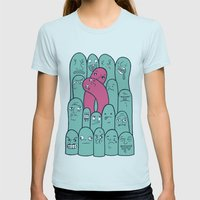 Break the Mold  Womens Fitted Tee Light Blue SMALL