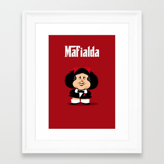 coupling up Mafialda Framed Art Print