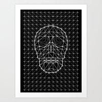 Triangle And Line Art Sk… Art Print