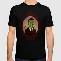 Prophets of Fiction - H.P. Lovecraft /Cthulhu Mens Fitted Tee Black SMALL