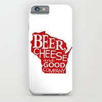 Red and White Beer, Cheese and Good Company Wisconsin Graphic iPhone 6 Slim Case
