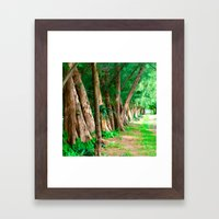 #TROPICAL PARC - MIAMI USA Framed Art Print