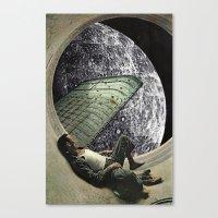 Moon Jock Canvas Print