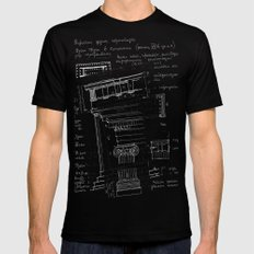 architectural notes Mens Fitted Tee Black SMALL