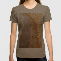 Beach Womens Fitted Tee Tri-Coffee SMALL