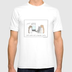 Ain't Nothin But A Hamster Party  Mens Fitted Tee White SMALL
