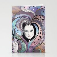 cosmic girl Stationery Cards