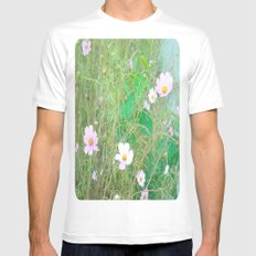 Wildflowers White Mens Fitted Tee SMALL