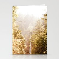 OREGON GORGE WATERFALL Stationery Cards