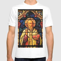 Saintly Glass #2 White SMALL Mens Fitted Tee