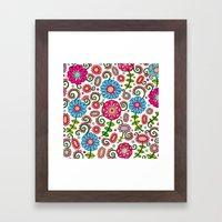 Cheerful Garden Framed Art Print