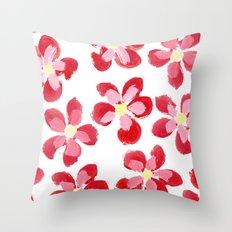Posey Power - Red Multi Throw Pillow
