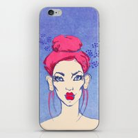 Selfie girl_3 iPhone & iPod Skin