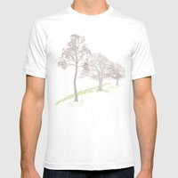 Misty Trees Mens Fitted Tee White SMALL