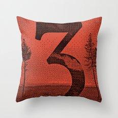 Three Throw Pillow
