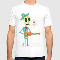 Broken Mariachi Mens Fitted Tee White SMALL