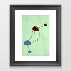 Lemon Giraffe Framed Art Print